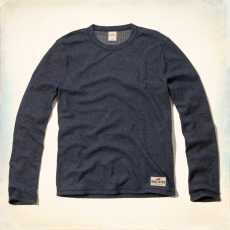 Hollister póló- hosszú ujjú, navy kék