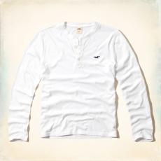 Hollister fehér hosszú ujjú póló