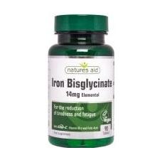 Natures Aid Vas biszglicinát, észterezett C-vitaminnal és folsavval 90db táplálékkiegészítő