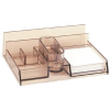 Dual Desk organiser  multi-purpose  with a note cube  transparent 5903573090612
