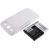 Powery Utángyártott akku Samsung Galaxy S3 fehér 3300mAh