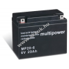 Multipower Ólom akku 6V 20Ah (Multipower) típus MP20-6