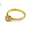 Gyémánt köves soliter arany gyűrű