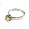 Gyémánt köves soliter fehérarany gyűrű