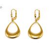 Csepp alakú lógós arany fülbevaló