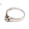 Brill köves fehérarany soliter gyűrű
