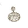 Köves karikás fehérarany medál