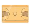 Kosárlabda taktikai tábla, 60x90 cm mágnestábla