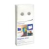 Ezüst színű mágnes üveg táblákhoz (6 db/csomag)