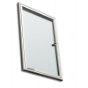 Premium beltéri fali vitrin és whiteboard egyben (kifelé nyíló ajtóval) 65,0x47,6 cm