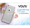 Vouni Apple iPhone 6 Plus/6S Plus szilikon hátlap - Vouni Crystal Shinning with lace - smoky black tok és táska