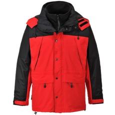 MV piros/fekete Portwest 3/1 ORKNEY kabát S532 S-3XL méretek