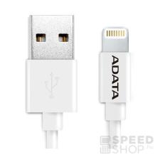 ADATA Apple iPhone fehér lightning adatkábel 1M, MFI engedélyes mobiltelefon kellék