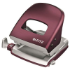 Leitz Punch: large size  metal Leitz Style  10-year warranty  30 sheets  dark red 4002432107346