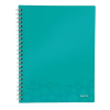 Leitz Notebook: with a folder and \Get organized\ dividers Leitz WOW A4  graph paper   4002432107988