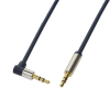 LogiLink Audio Cable 3.5 Stereo M/M 90° angled, 5.00 m, blue