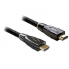 DELOCK Cable High Speed HDMI with Ethernet A-A straight/straight PREMIUM 2m (82737)