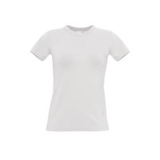 B&C B&C r. ujjú Női pamut póló, fehér