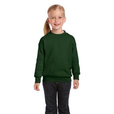 GILDAN Gildan kereknyakú gyerekpulóver, sötétzöld