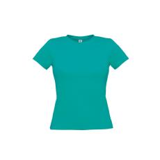 B&C B&C környakas Női póló, real turquoise