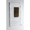 Aqualine fürdőszobai radiátor, 750x1690 mm, íves fehér (ILO67)