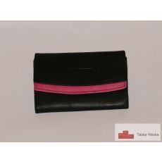 P011 S.Belmonte fekete, pink női bőr pénztárca CC29