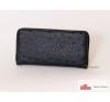 P036 női fekete cipzáros pénztárca pénztárca