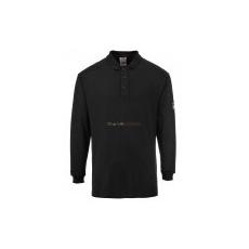 Portwest FR10 Lángálló, antisztatikus hosszú ujjú pólóing (fekete)