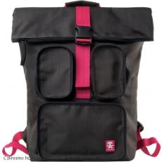 CRUMPLER - The Condo Backpack grey black / deep pink