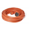 Somogyi 10fm-es hálózati hosszabbító narancs szinű NV2-10m, lengő hosszabbító
