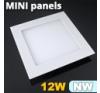 Mini négyzet LED panel (170x170 mm) 12 Watt természetes feh. világítási kellék
