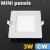 Mini négyzet LED panel (85x85 mm) 3 Watt hideg fehér