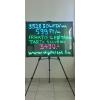 N/A Írható világító LED tábla, 60X80 cm, fekete, üveg előlappal