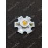 N/A 3W Power LED 6000K hűtőcsillagra szerelve 240 Lumen hideg fehér 2 év garancia