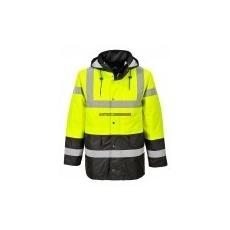 Portwest S466 Kontraszt Traffic kabát (SÁRGA/FEKETE)