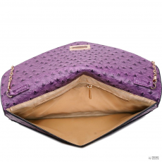 Miss Lulu London L1437 - Miss Lulu Ostrich Envelope Táska Clutch táska lila
