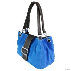 Miss Lulu London E1404 - Miss Lulu Suede dupla szíj kézi táska kék