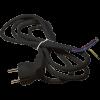 Emos S18323 FLEXO 3X1,5 H05VV-F 3m fekete szerelt kábel