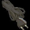 Emos S19272 FLEXO2X0,75 H03VV-H2 2m fekete szerelt kábel