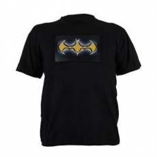 Summary T-Shirt LED 2-Farben Batman Design Größe XL
