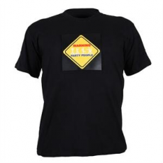 Summary T-Shirt LED 3-Farben Warning Party People Design Größe L