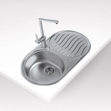 Teka Centroval DR 78 1B 1D Inox mosogatótálca fürdőkellék