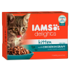 IAMS Delights Kitten szószban 12 x 85 g - Csirke