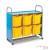 Gratnells Callero háromoszlopos állvány jumbo tárolódobozokkal