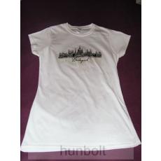 Budapest - Parlament fehér póló XXL méret- női