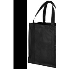 Bevásárlótáska, nemszőtt, fekete (Bevásárlótáska, nem szőtt, 80 g/m2 nemszőtt anyagból.)