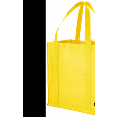 Bevásárlótáska, nemszőtt, sárga (Bevásárlótáska, nem szőtt, 80 g/m2 nemszőtt anyagból.)
