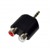 Vakoss Adapter audio minijack 3 5mm stereo -> 2x RCA F TC-A101K black TC-A101K