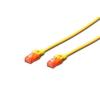 Digitus Premium CAT 6 UTP patch kábel  hossza: 1 0m  sárga DK-1612-010/Y