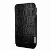 Piel Frama iPhone 6/6S Framaslim eredeti vad krokodilbőr tok, fekete